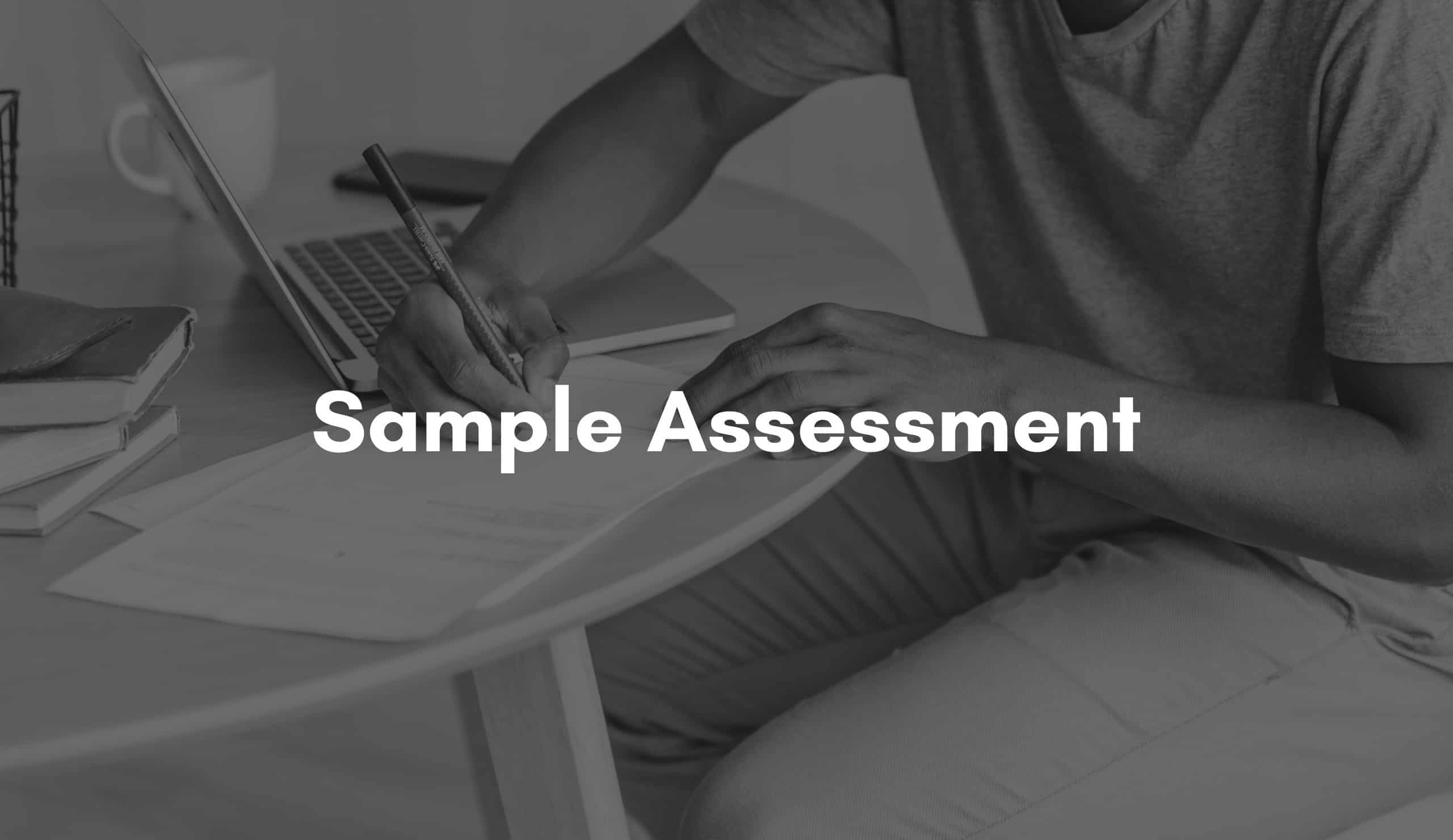 A CASAC-T watching a Sample Online CASAC Learning assessment